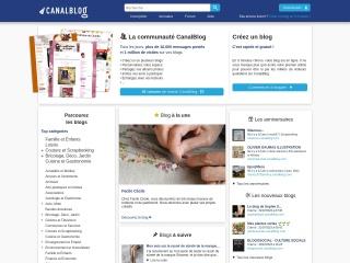 Screenshot for canalblog.com