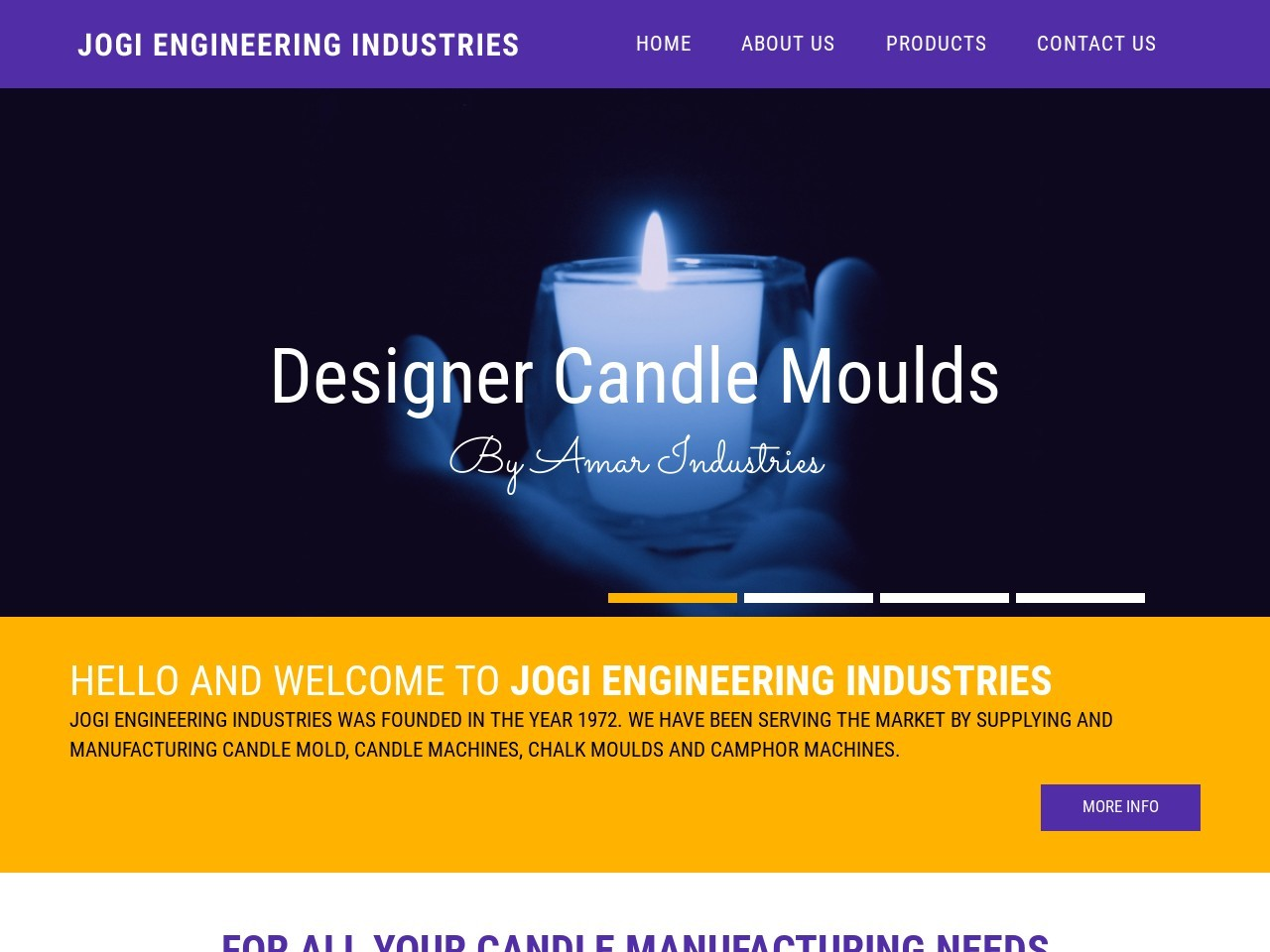 Candle & Chalk Moulding Machines Supplier-Jogi Engineering Industries