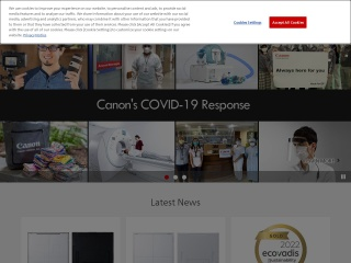 Screenshot for canon.com