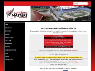 Screenshot for canterburymastersathletics.org.nz