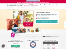 CanvasDiscount.com screenshot