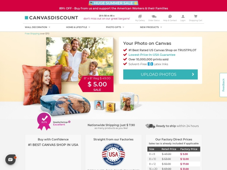 Canvasdiscount.com Coupon Codes