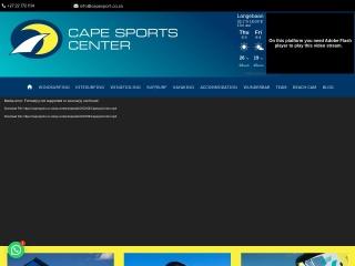 Screenshot for capesport.co.za