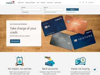 Screenshot for capitalone.com