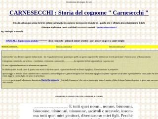 screenshot carnesecchi.eu