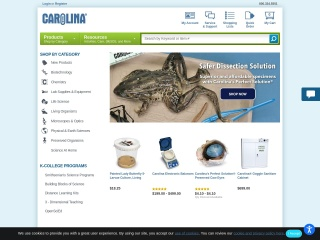 Screenshot for carolina.com
