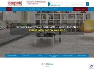 Screenshot for carpetmelbournedirect.com.au