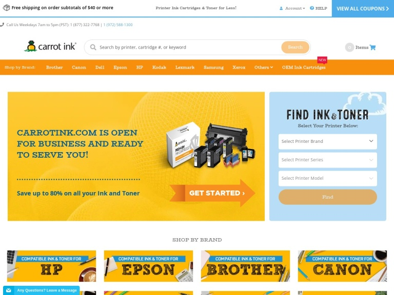 Carrotink.com - Save A Bunch On Printing Supplies screenshot