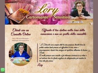 Screenshot del sito cartomantelory.it