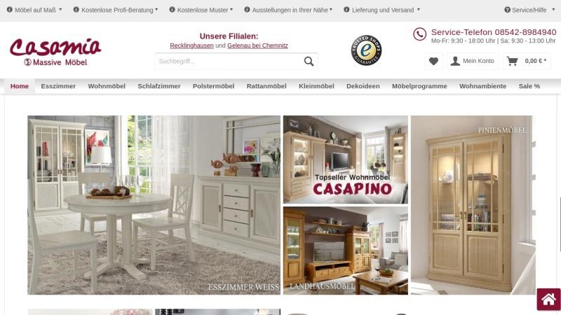 www.casamia-wohnen.de Vorschau, Casamia - Wohnen und Ambiente GmbH