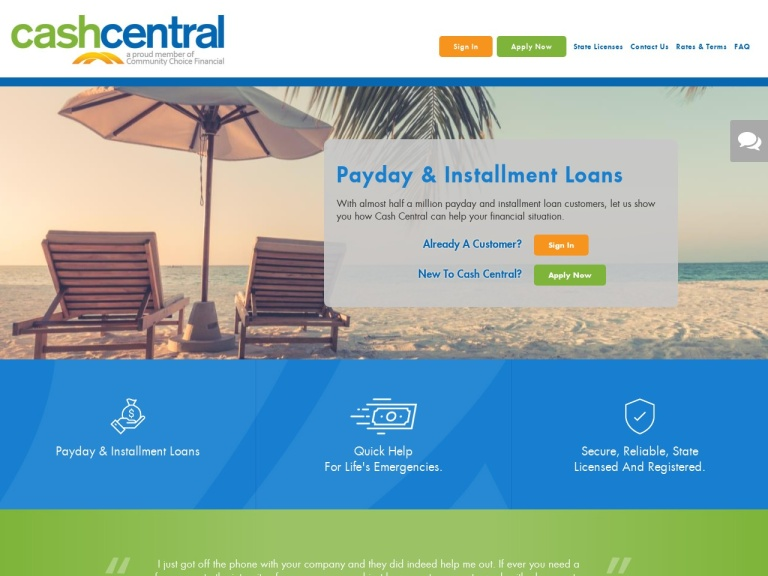 Cash Central screenshot