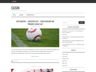 Screenshot der Website casin.ch