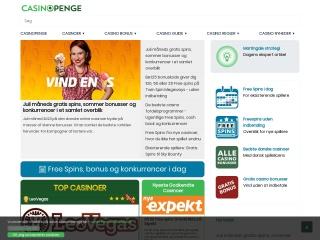Skærmprint af webstedet casinopenge.dk