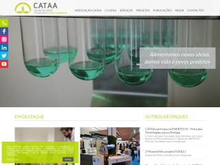 Screenshot do site cataa.pt