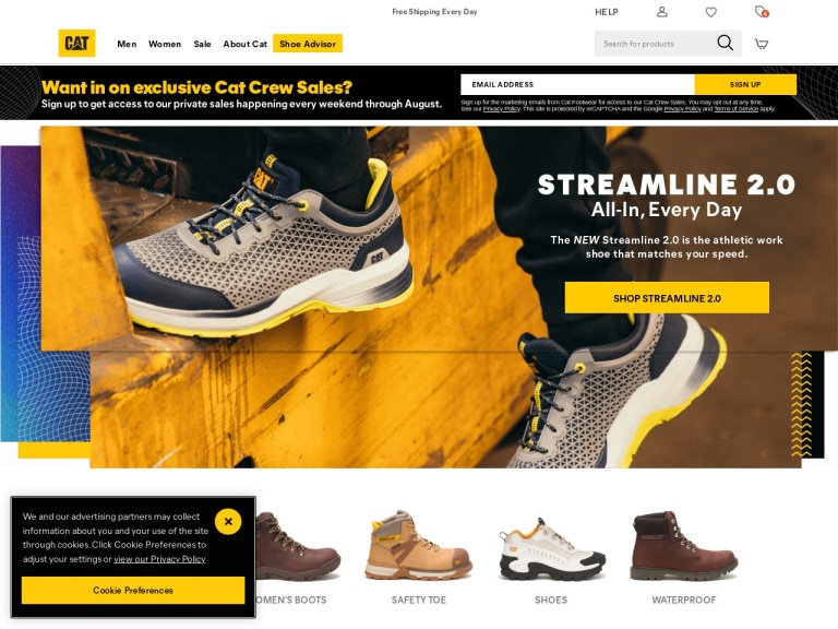 CAT Footwear screenshot