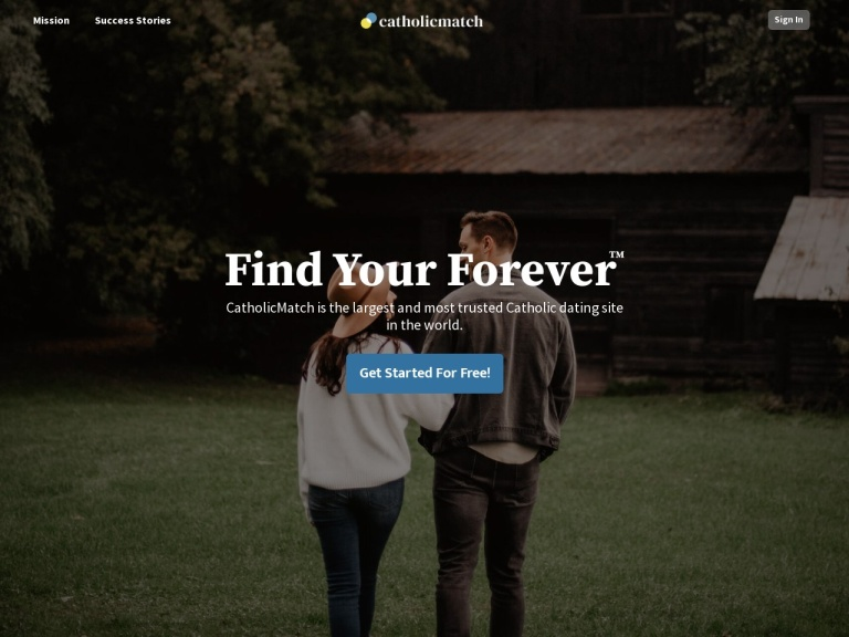 Catholicmatch.com screenshot