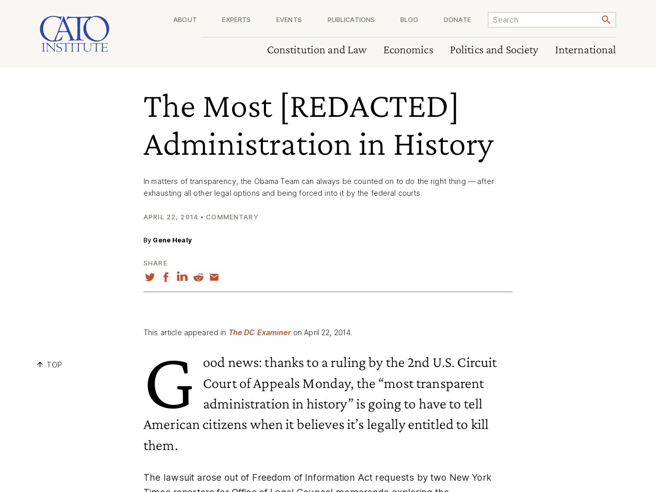 The Most REDACTED Administration In History