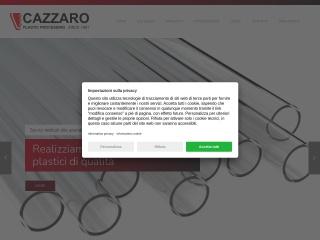 screenshot cazzaro-plastic.it