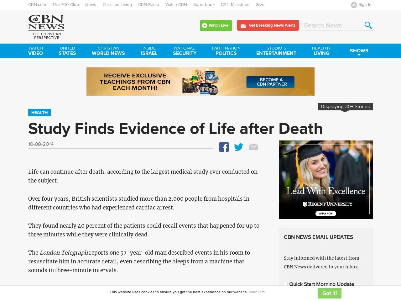 Study Finds Evidence of Life after Death