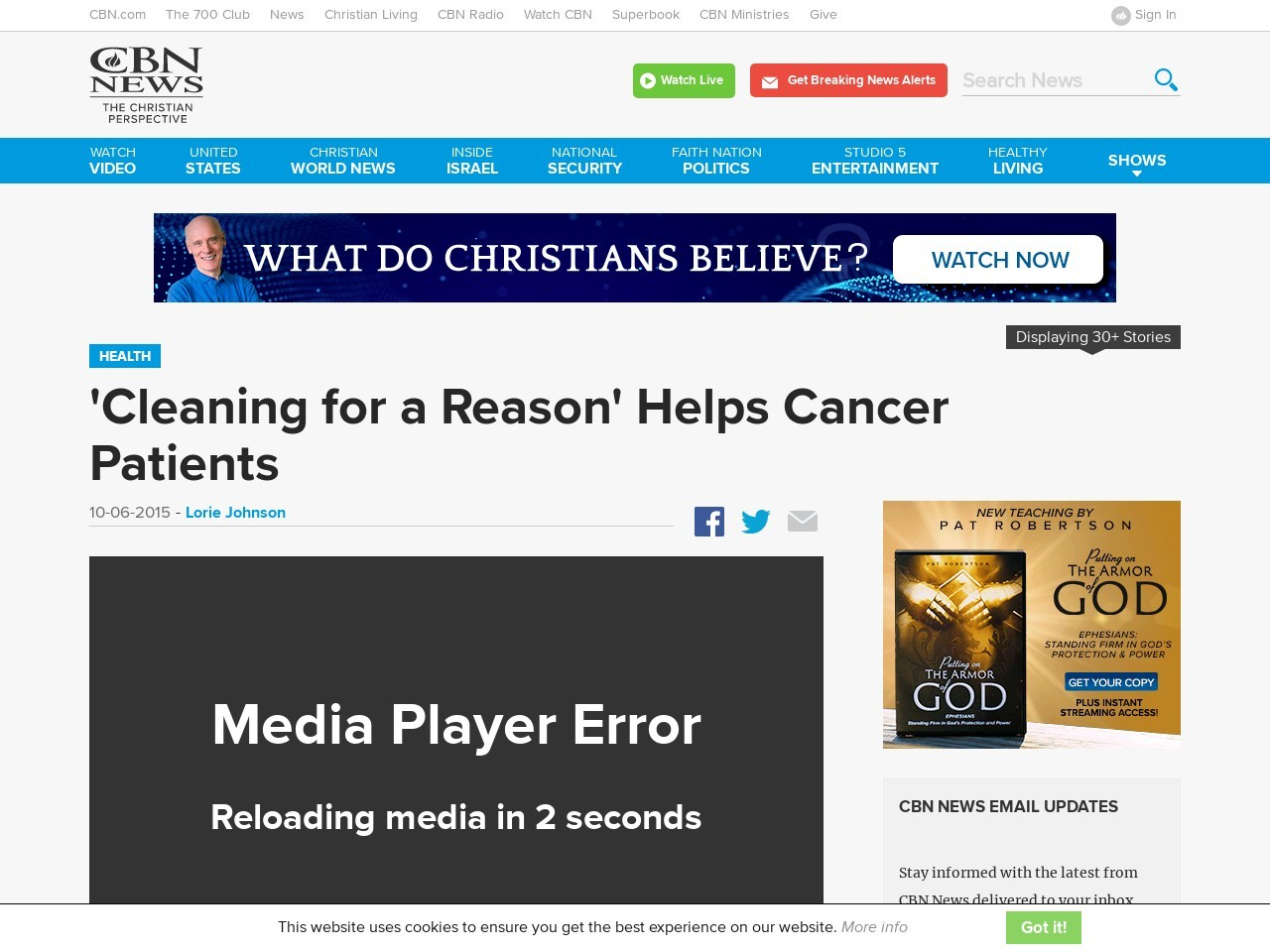 'Cleaning for a Reason' Helps Cancer Patients