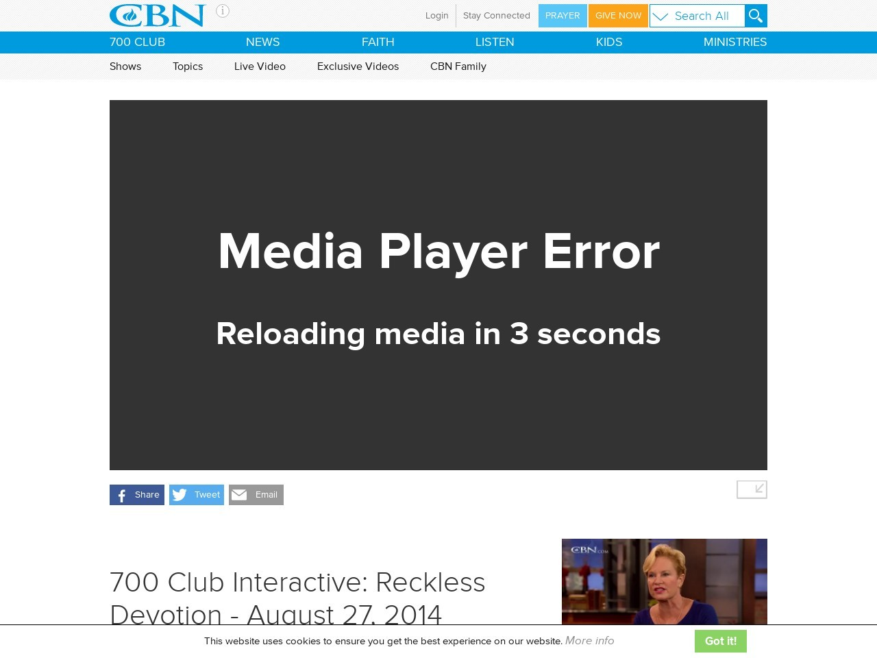 700 Club Interactive: Reckless Devotion – August 27, 2014