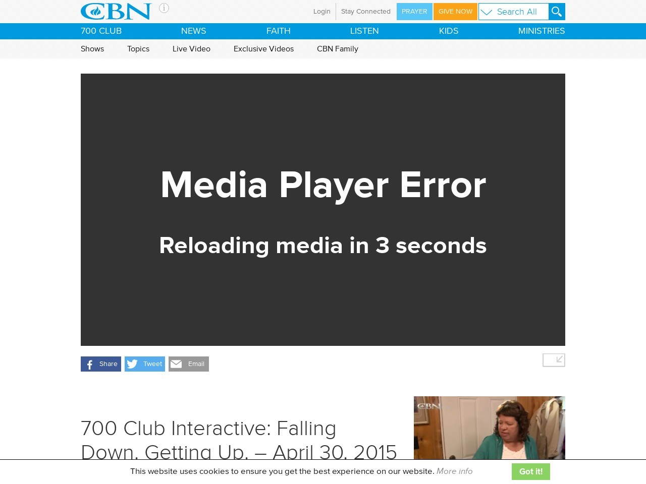 700 Club Interactive: Falling Down. Getting Up. – April 30. 2015