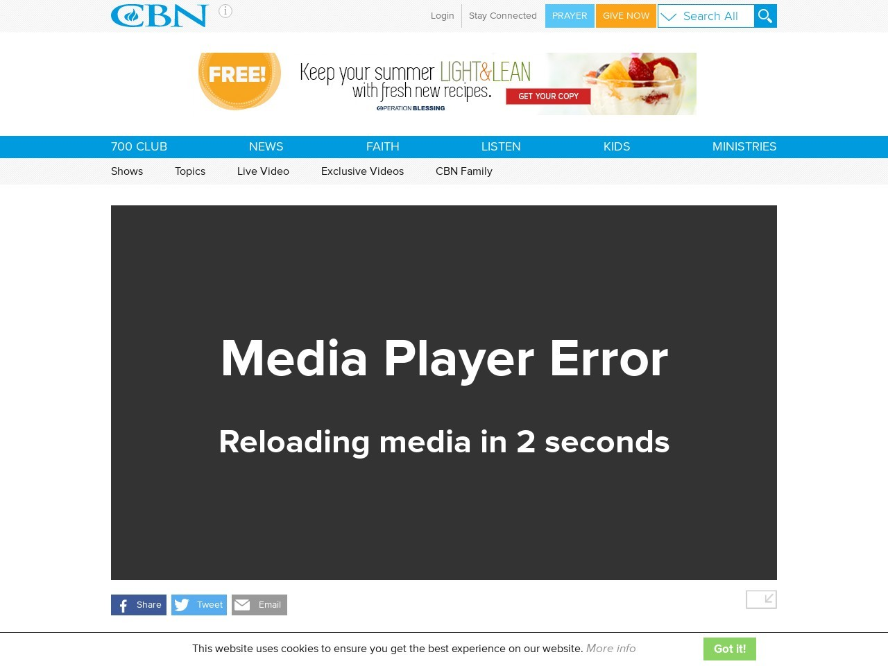 700 Club Interactive: Be Healed and Believe – June 11, 2015