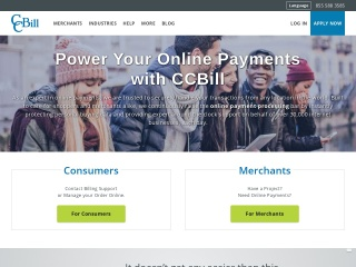 Screenshot for ccbill.com