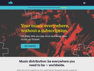 Screenshot for cdbaby.com