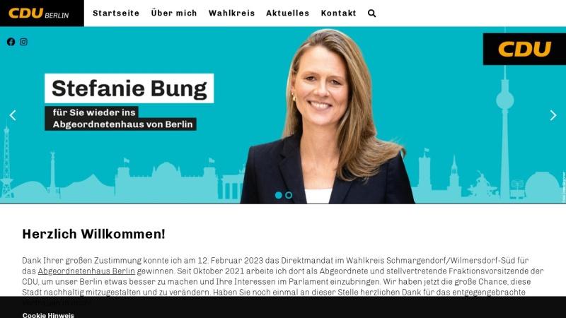 www.cdu-gartenstadt-schmargendorf.de Vorschau, CDU Gartenstadt Schmargendorf