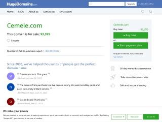 cemele.com için Ekran Görüntüsü