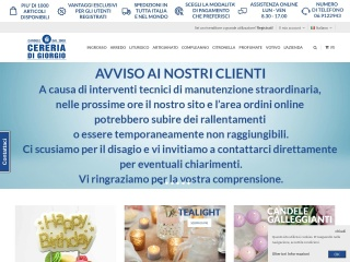 Screenshot del sito cereriadigiorgio.it