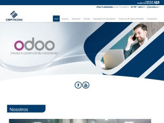 Captura de pantalla para certicom.com.pe