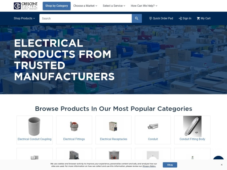 Crescent Electric Supply Company screenshot
