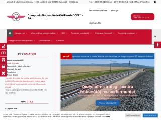 Screenshot al site-ului cfr.ro