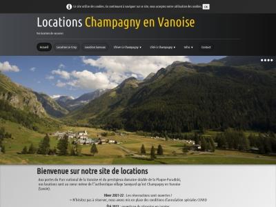 Location appartement à Champagny en Vanoise