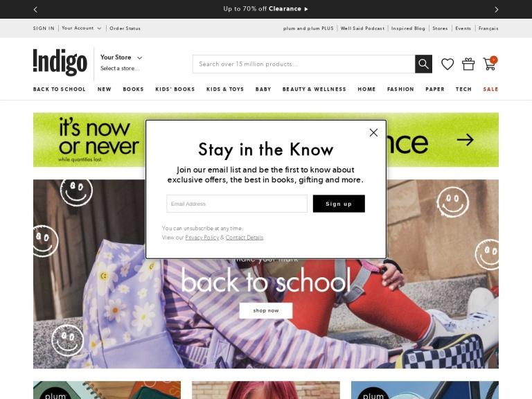 Indigo Books and Music screenshot