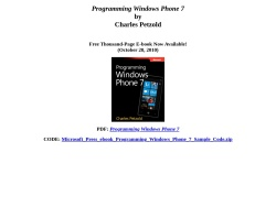 Programming Windows Phone 7 Series