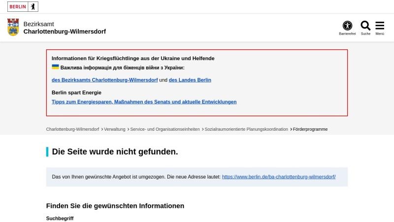www.charlottenburg-wilmersdorf.de Vorschau, Bezirksamt Charlottenburg-Wilmersdorf