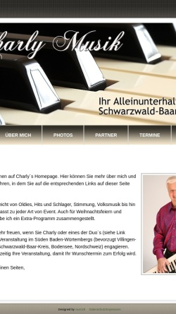 Vorschau der mobilen Webseite www.charly-musik.de, Charly M.