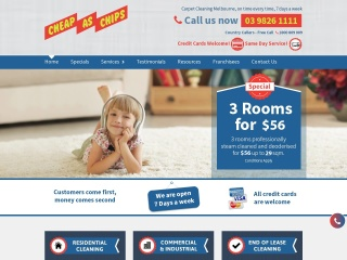Screenshot for cheapaschipscleaning.com.au