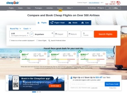 CheapOair.com screenshot