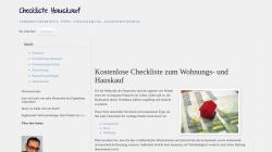 www.checklistehauskauf.de Vorschau, Checkliste Hauskauf