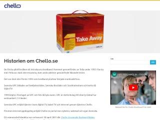 Skärmdump för chello.se