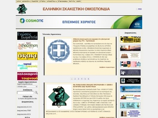 Screenshot για την ιστοσελίδα chessfed.gr