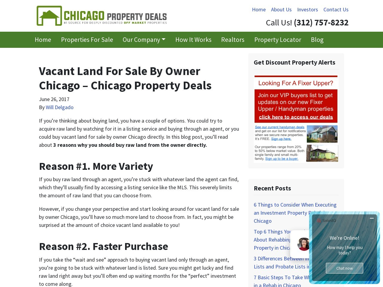 Vacant Land For Sale By Owner Chicago – Chicago Property Deals