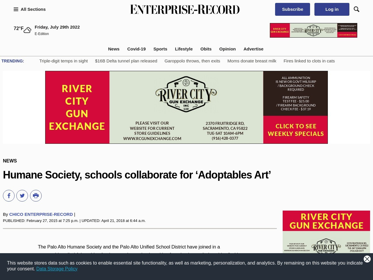 Humane Society, schools collaborate for 'Adoptables Art'