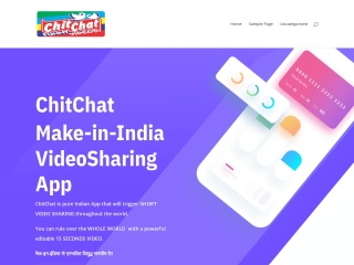 Screenshot for chitchat.net.in
