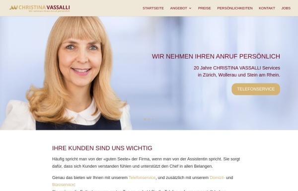 Vorschau von www.christinavassalli.ch, Christina Vassalli Services