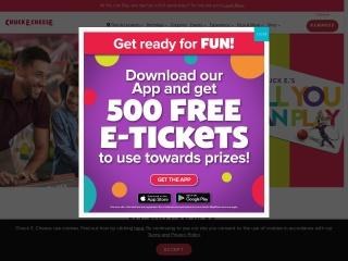Screenshot for chuckecheese.com